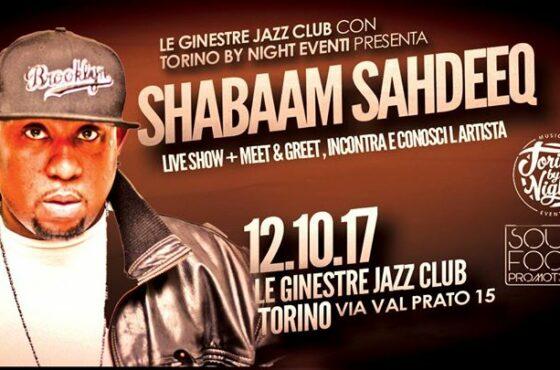 Shabaam Sahdeeq à Turin